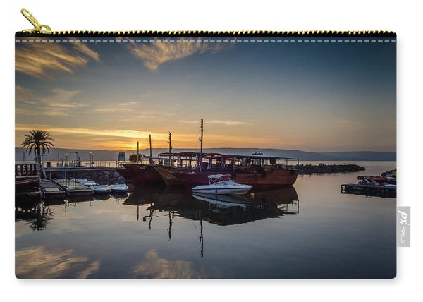 Sunrise Over The Sea Of Galilee Carry-all Pouch