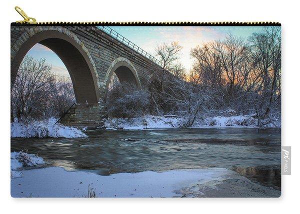 Sunrise Under The Bridge Carry-all Pouch