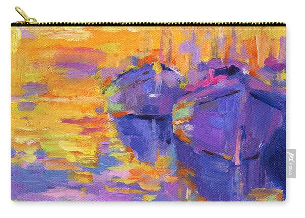 Sunset And Boats Carry-all Pouch