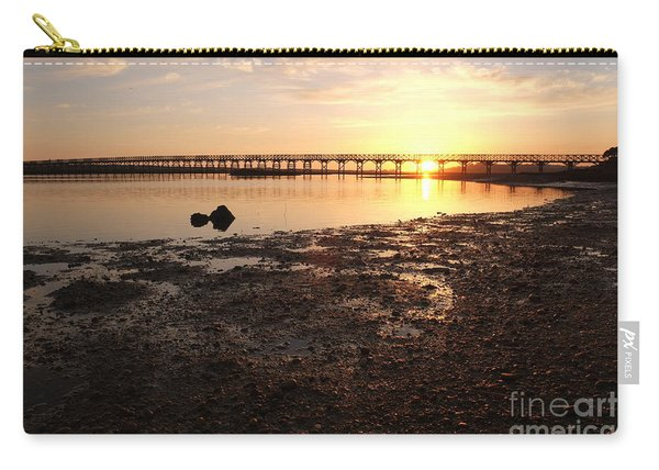 Sunset And Wooden Bridge In Ludo Carry-all Pouch