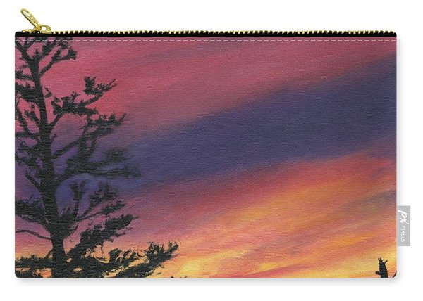 Sunset At Glacier National Park Carry-all Pouch