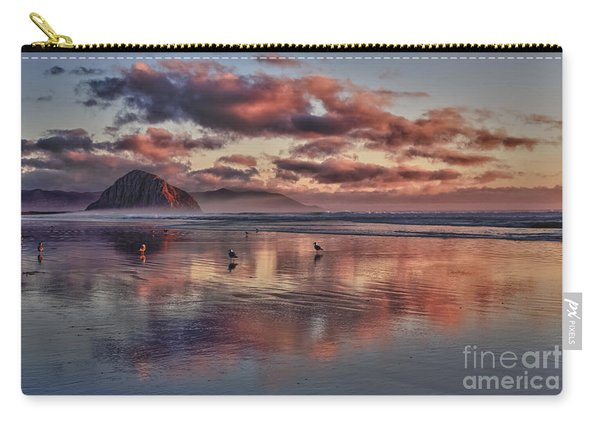 Sunset At Morro Strand Carry-all Pouch