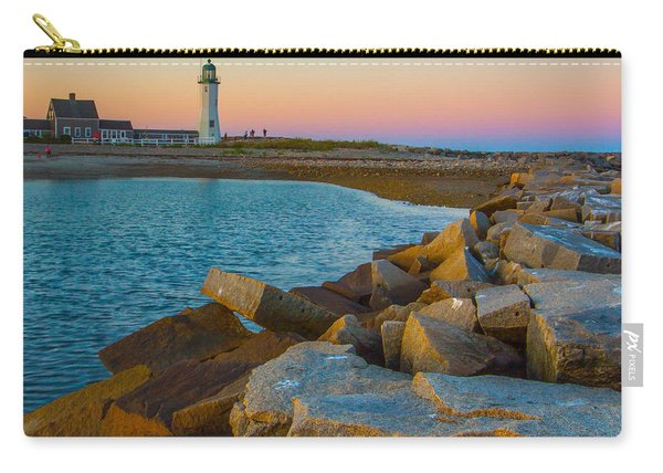 Sunset At Old Scituate Lighthouse Carry-all Pouch