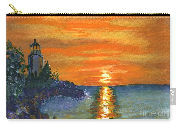 Sunset At The Lighthouse Carry-all Pouch