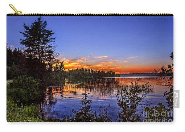 Sunset At The Waskesiu Lake Carry-all Pouch