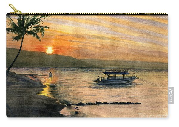 Sunset At Tropical Island Carry-all Pouch