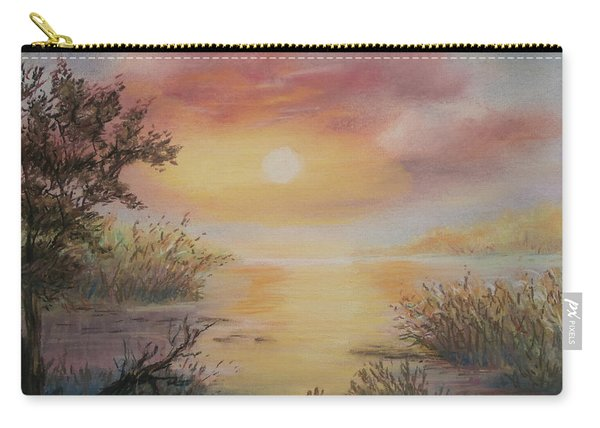 Sunset By The Lake Carry-all Pouch