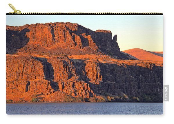 Carry-all Pouch featuring the photograph Sunset Cliffs At Horsethief  by Talya Johnson