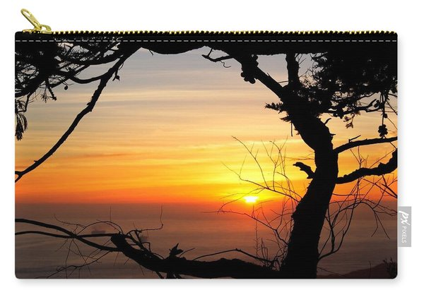 Sunset In A Tree Frame Carry-all Pouch