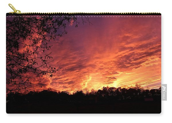 Sunset In Blue Ridge Foothills Carry-all Pouch