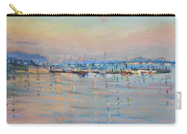 Sunset In Piermont Harbor Ny Carry-all Pouch