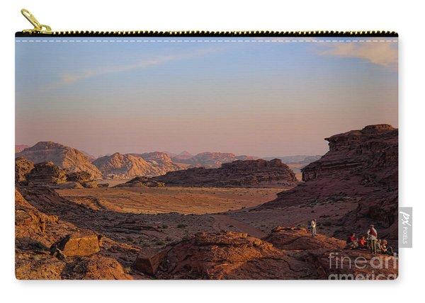Sunset In The Wadi Rum Desert Jordan Carry-all Pouch