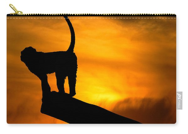 Monkey / Sunset Carry-all Pouch