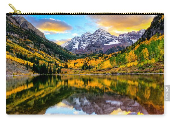 Sunset On Maroon Bells Carry-all Pouch