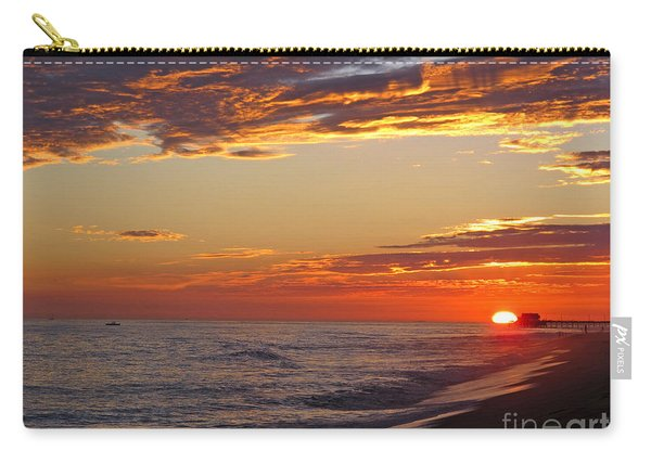 Sunset On Newport Beach Carry-all Pouch