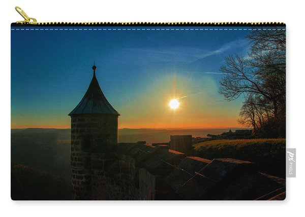 Sunset On The Fortress Koenigstein Carry-all Pouch