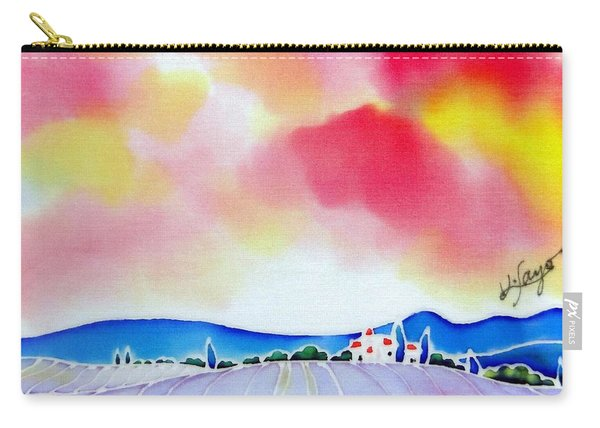 Sunset On The Lavender Farm  Carry-all Pouch