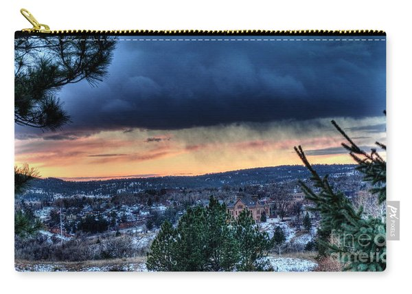 Carry-all Pouch featuring the photograph Sunset Over Hot Springs by Bill Gabbert
