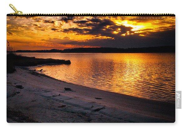 Sunset Over Little Assawoman Bay Carry-all Pouch