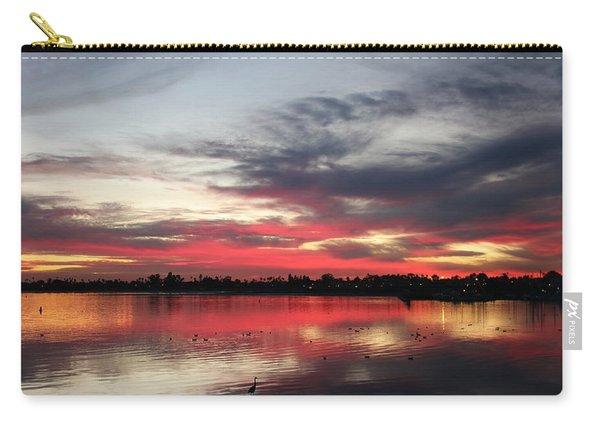 Carry-all Pouch featuring the photograph Sunset Over Mission Bay  by Christy Pooschke