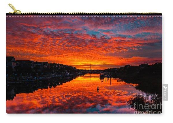 Sunset Over Morgan Creek - Wild Dunes Resort Carry-all Pouch