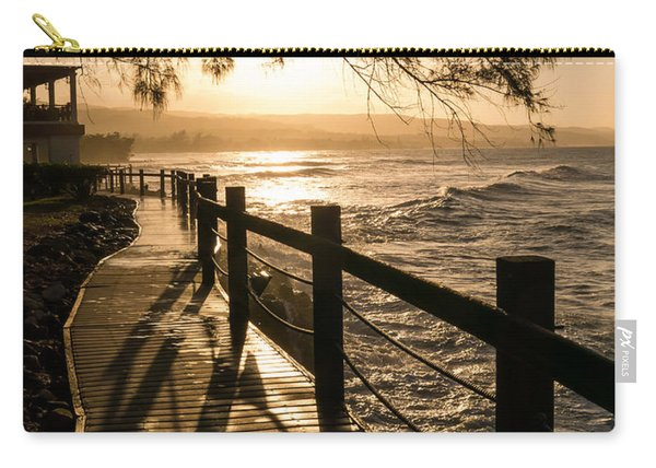 Sunset Over Ocean Walkway Carry-all Pouch