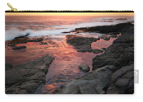 Sunset Over Rocky Coastline Carry-all Pouch