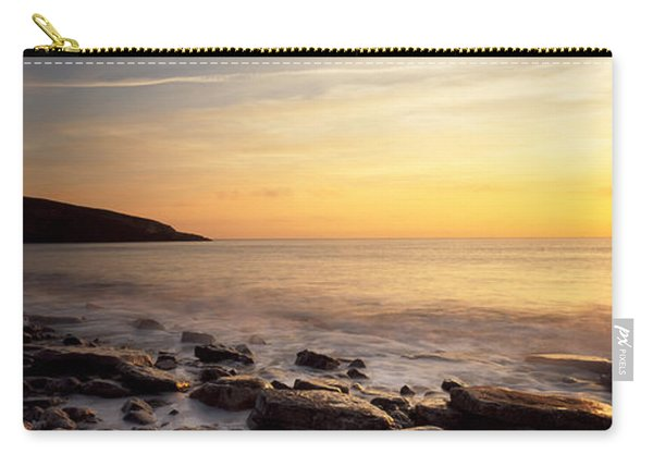 Sunset Over The Sea, Celtic Sea, Wales Carry-all Pouch
