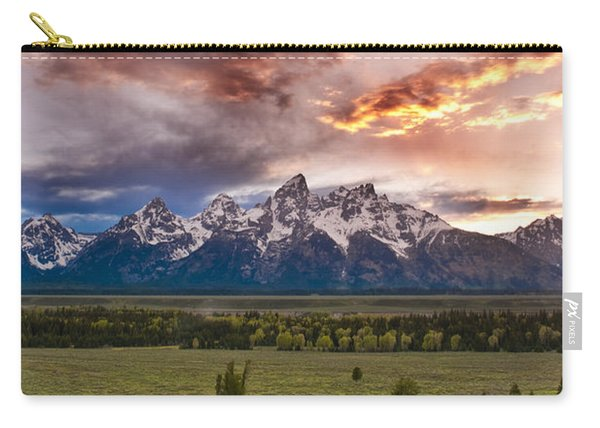 Sunset Over The Tetons  Carry-all Pouch