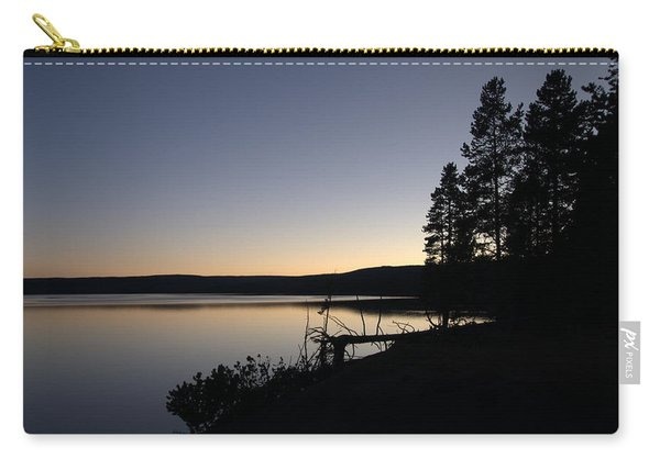 Sunset Over Yellowstone Lake Carry-all Pouch