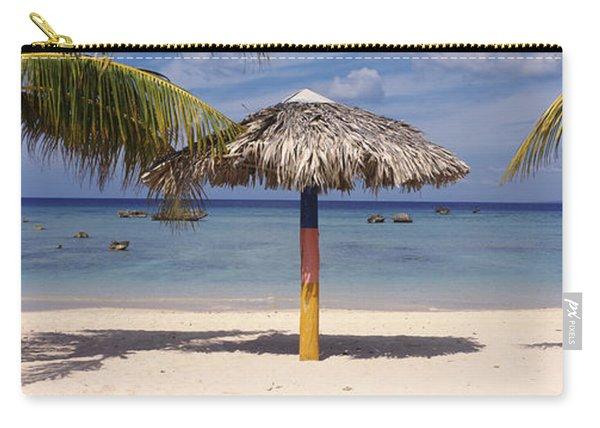 Sunshade On The Beach, La Boca, Cuba Carry-all Pouch