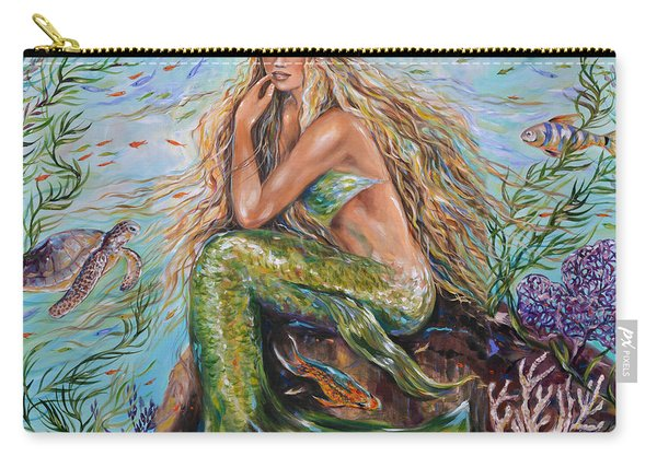 Sunshine Mermaid Square Carry-all Pouch