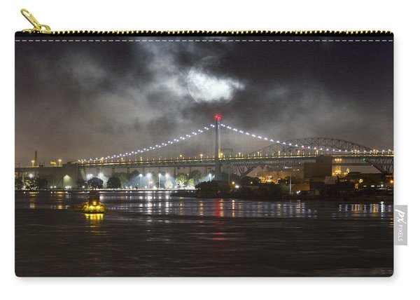 Super Moon And Triboro Bridge Carry-all Pouch