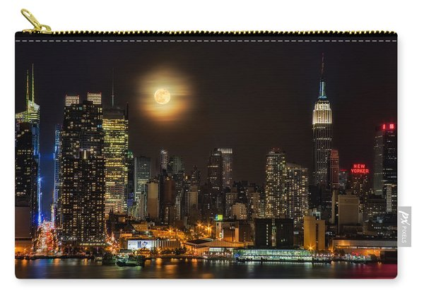 Super Moon Over Nyc Carry-all Pouch