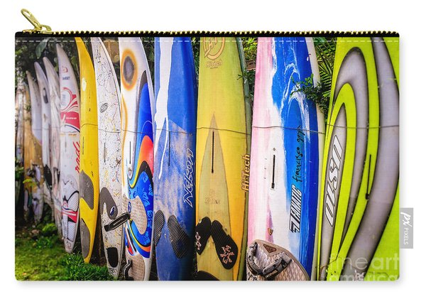Surfboard Fence Maui Hawaii Carry-all Pouch