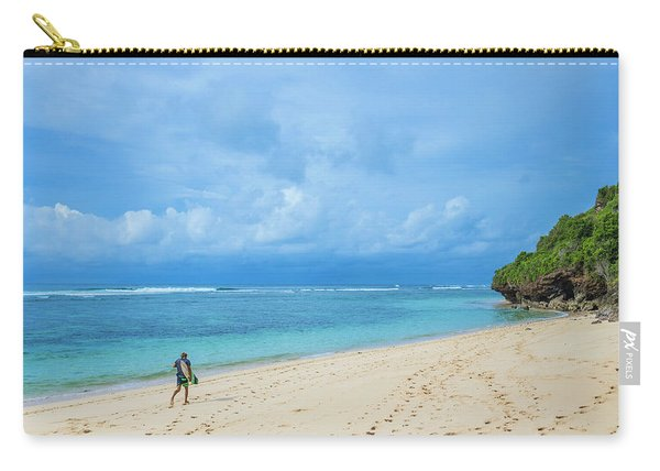 Surfer On The Tropical Beach Carry-all Pouch