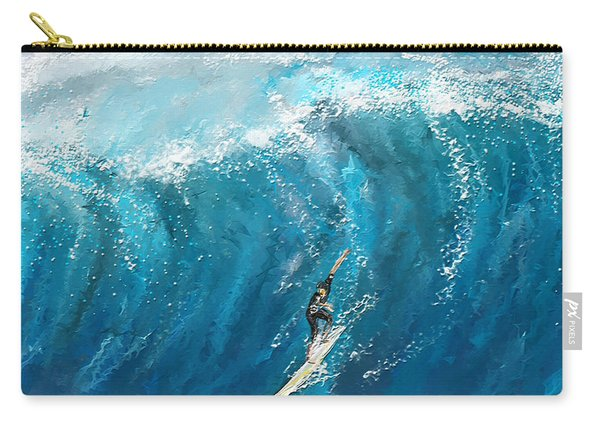 Surf's Up- Surfing Art Carry-all Pouch