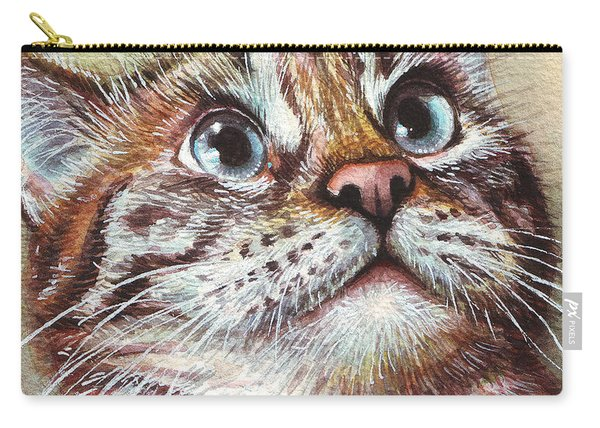 Surprised Kitty Carry-all Pouch