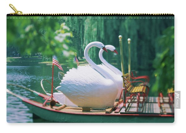 Swan Boats In A Lake, Boston Common Carry-all Pouch