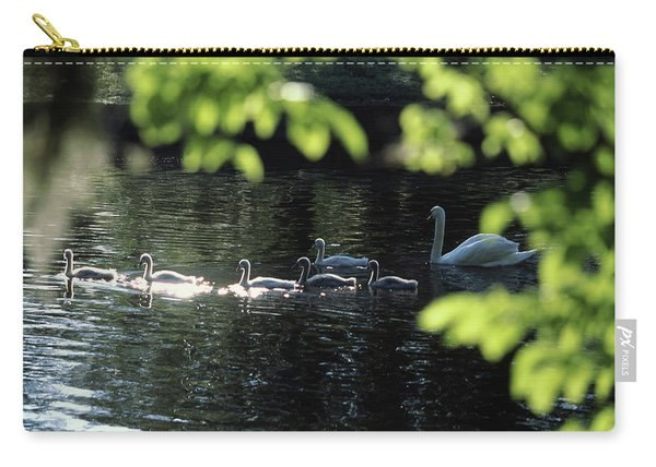 Swan Family In A Lake, Middleton Place Carry-all Pouch