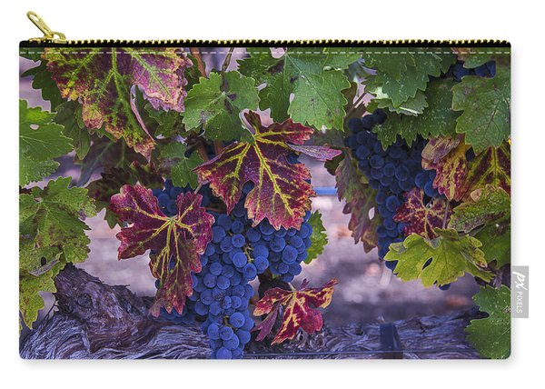Sweet Wine Grapes Carry-all Pouch