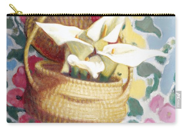 Sweetgrass Basket With Lilies Carry-all Pouch