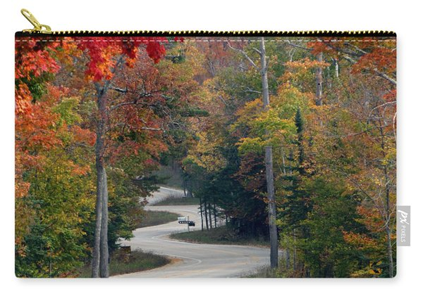 Swervy Road At North Port Carry-all Pouch