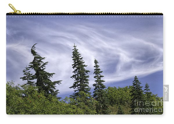 Swirling Clouds Crooked Trees Carry-all Pouch