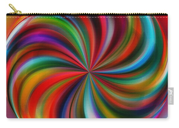Swirling Color By Kaye Menner Carry-all Pouch