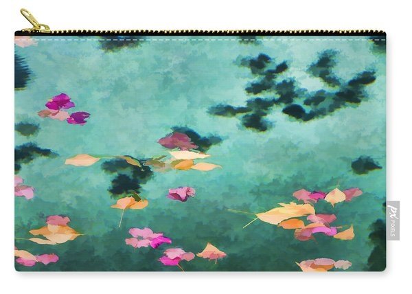 Swirling Leaves And Petals 6 Carry-all Pouch