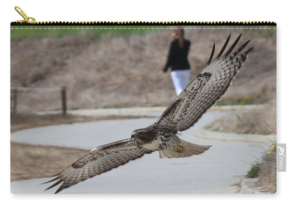 Carry-all Pouch featuring the photograph Swoop by Christy Pooschke