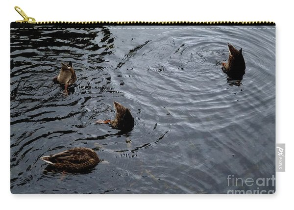 Carry-all Pouch featuring the photograph Synchronised Swimming Team by Scott Lyons
