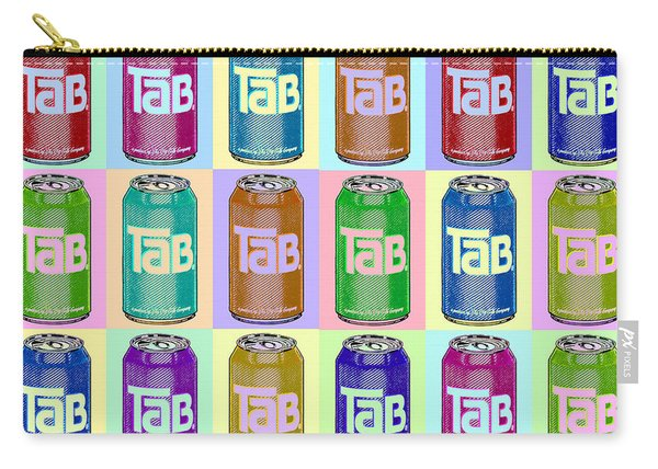 Tab Ode To Andy Warhol Repeat Horizontal Carry-all Pouch