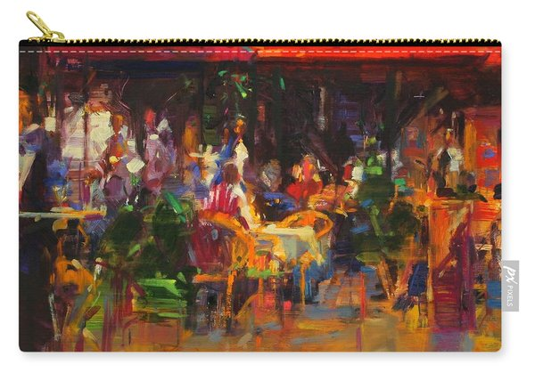 Table At Villefranche Oil On Canvas Carry-all Pouch